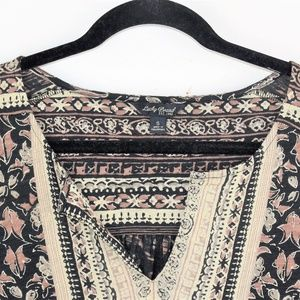 Lucky Brand Tops - Lucky Brand Woodblock Floral Top